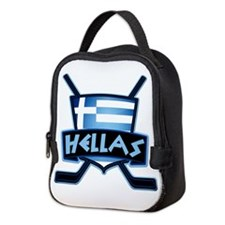 Greece Ice Hockey Shield Hellas Neoprene Lunch Bag