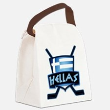 Greece Ice Hockey Shield Hellas Canvas Lunch Bag