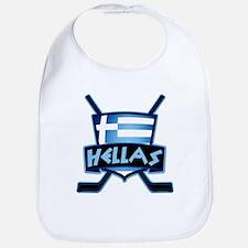 Greece Ice Hockey Shield Hellas Bib