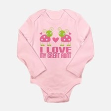 I Love My Great Aunt Long Sleeve Infant Bodysuit