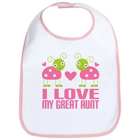 I Love My Great Aunt Bib By Mainstreetshirt