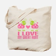 I Love My Great Aunt Tote Bag