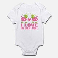 I Love My Great Aunt Infant Bodysuit