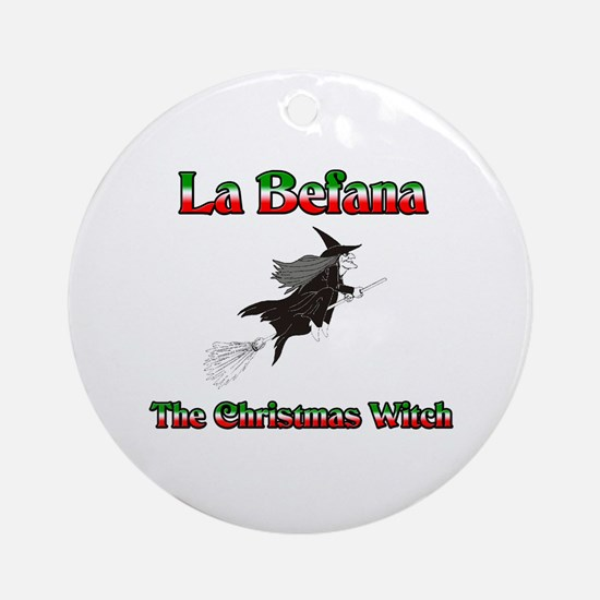 La Befana The Christmas Witch Ornament (Round)