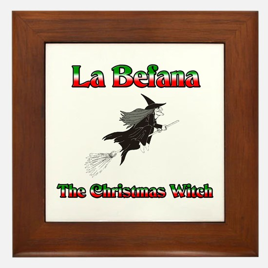 La Befana The Christmas Witch Framed Tile