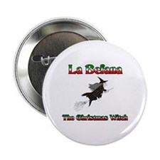 La Befana The Christmas Witch Button