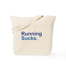 Running Sucks Blue Tote Bag