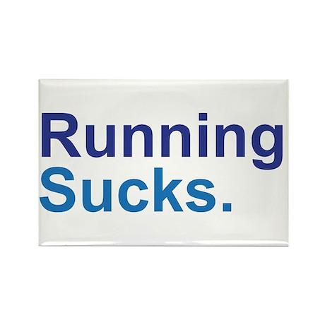 Running Sucks Blue Rectangle Magnet