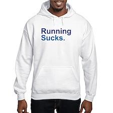Running Sucks Blue Hoodie