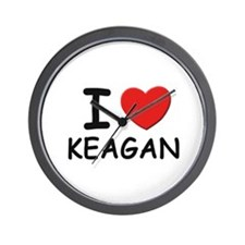 I love Keagan Wall Clock