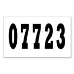 Deal New Jersy 07723 Rectangle Sticker