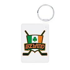 Ireland Irish Ice Hockey Shield Keychains