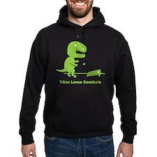 T-Rex Loves Cornhole Hoodie