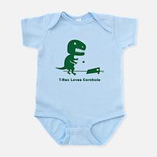 T-Rex Loves Cornhole Infant Bodysuit