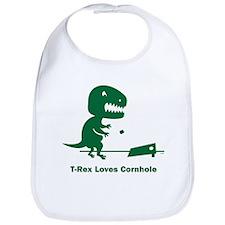 T-Rex Loves Cornhole Bib