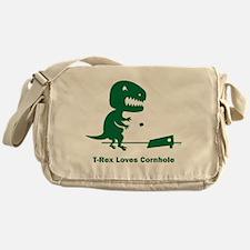T-Rex Loves Cornhole Messenger Bag