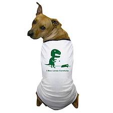 T-Rex Loves Cornhole Dog T-Shirt