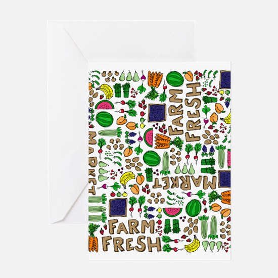 Farmers Market Medley Greeting Card