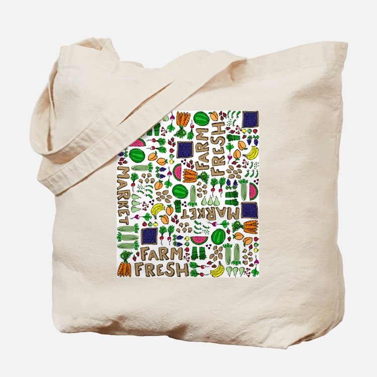 Farmers Market Medley Tote Bag