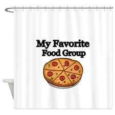 My Favorite Food Group Shower Curtain