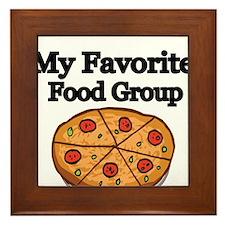 My Favorite Food Group Framed Tile