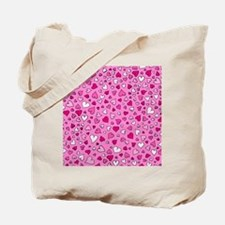 'Scattered Hearts' Tote Bag