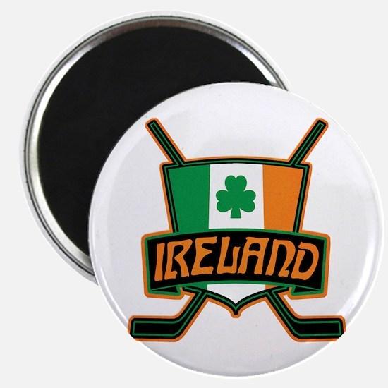 Ireland Irish Ice Hockey Shield Magnet