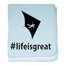Hang Gliding baby blanket
