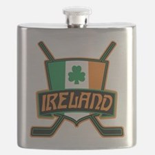 Ireland Irish Ice Hockey Shield Flask