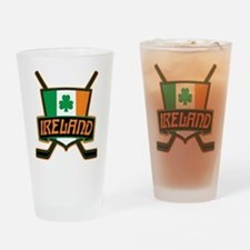 Ireland Irish Ice Hockey Shield Drinking Glass