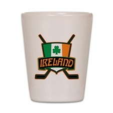 Ireland Irish Ice Hockey Shield Shot Glass