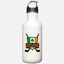 Ireland Irish Ice Hockey Shield Water Bottle