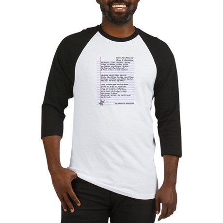 Pharmacy Terms & Calculations Baseball Jersey