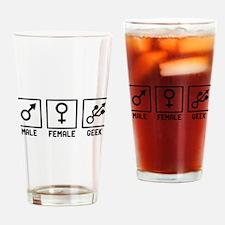 Geek humor Drinking Glass