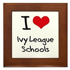 I Love Ivy League Schools Framed Tile
