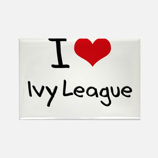 I Love Ivy League Rectangle Magnet