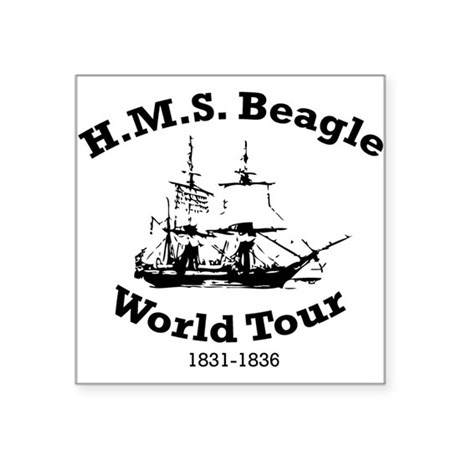 HMS Beagle world tour Oval Sticker