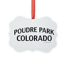 Poudre Park Colorado Ornament
