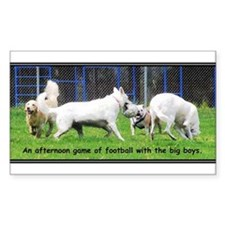 Bulldog Football Rectangle Decal