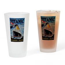 Vintage Titanic Travel Drinking Glass