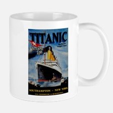 Vintage Titanic Travel Small Small Mug