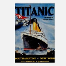 Vintage Titanic Travel Postcards (Package of 8)