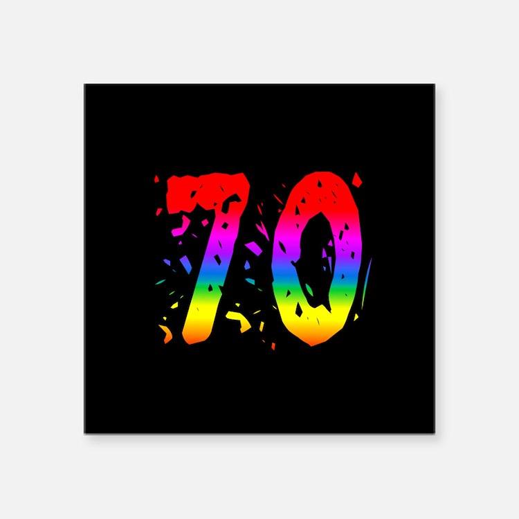 Confetti Rainbow 70 Sticker