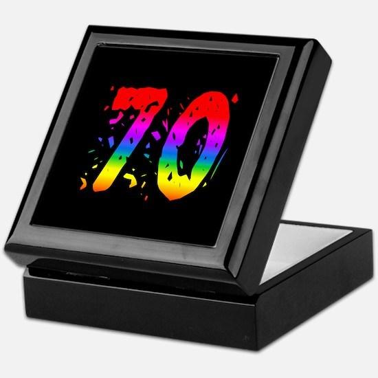 Confetti Rainbow 70 Keepsake Box