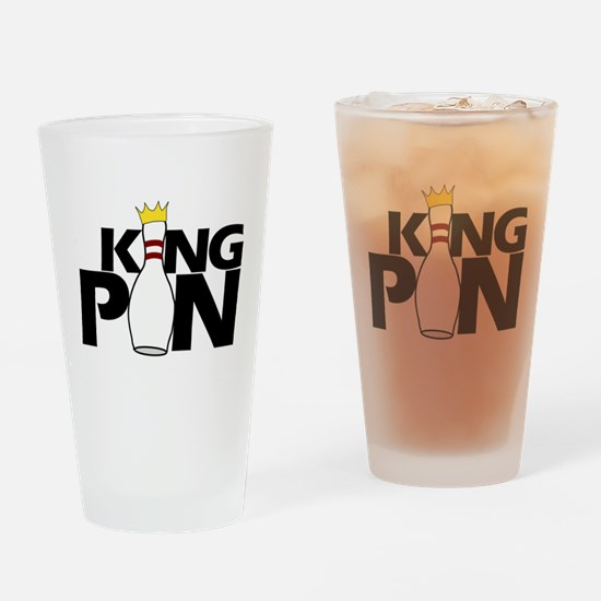 king pin Drinking Glass