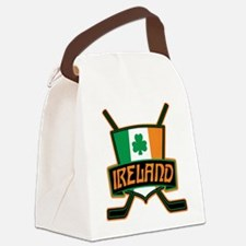 Ireland Irish Ice Hockey Shield Canvas Lunch Bag