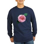 Old-fashioned Rose Long Sleeve Dark T-Shirt