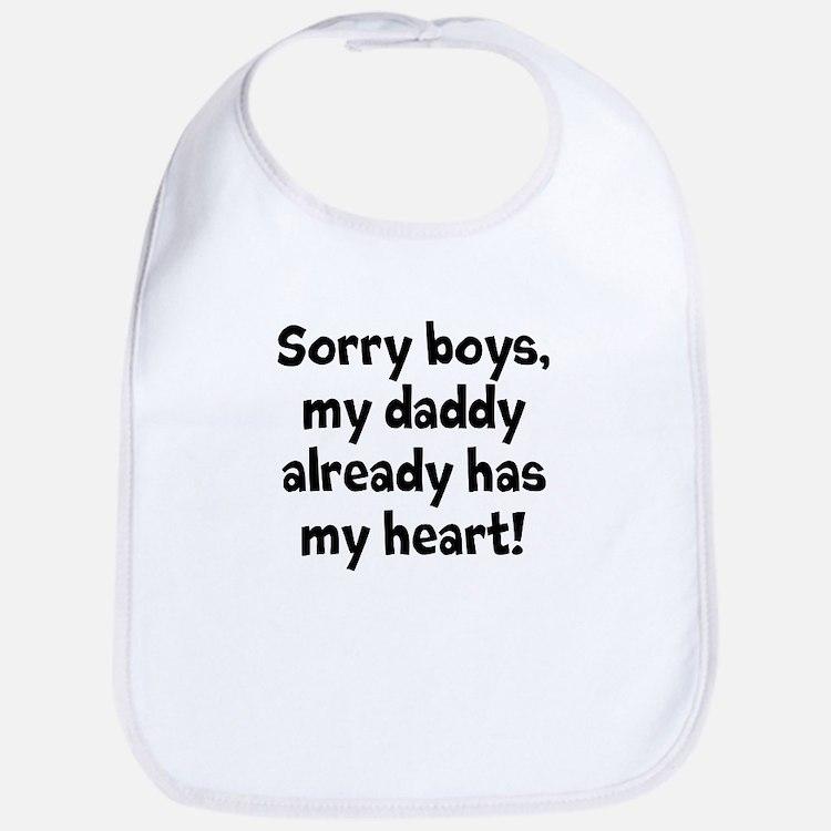 Sorry boys, my daddy already has my heart Bib