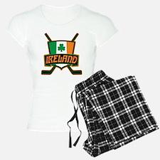 Ireland Irish Ice Hockey Shield Pajamas