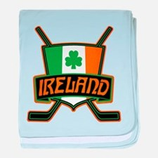 Ireland Irish Ice Hockey Shield baby blanket